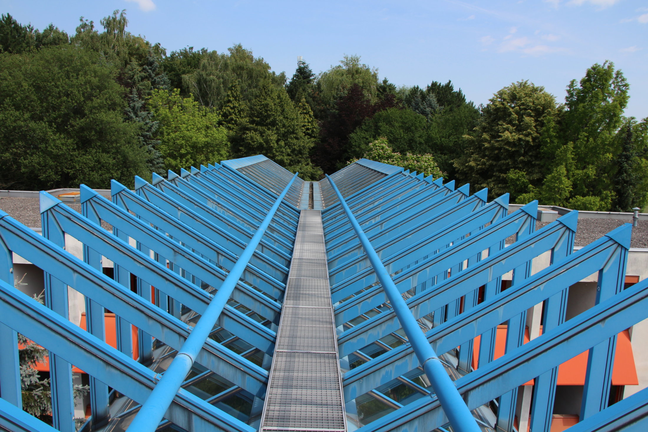 Dachstuhl Übergang Haus4-Haus5